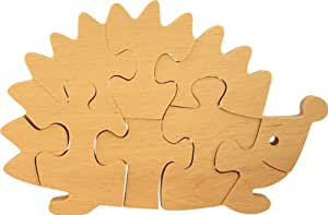 Puzzle 3D à peindre. Puzzle hérisson 3D loisirs créatifs. Hêtre massif. Fabriqué en Europe
