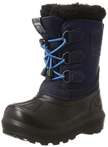 Viking Unisex-Kinder Istind Schneestiefel, Blau (Mid Blue/Black), 30 EU
