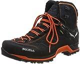 SALEWA Ms MTN Trainer Mid GTX, Scarpe da Arrampicata Alta Uomo, Grigio (Asphalt/Fluo Orange 985), 43 EU