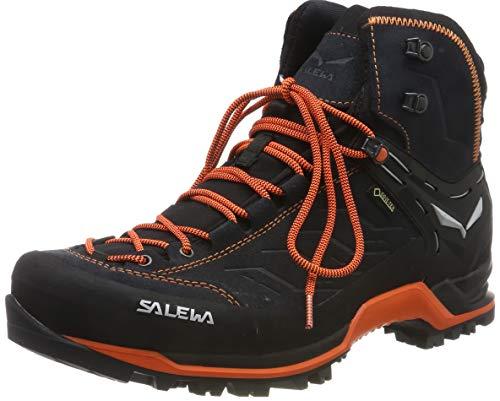 Salewa Herren MS MTN Trainer MID GTX Trekking-& Wanderstiefel, Grau (Asphalt/Fluo Orange 985), 45 EU