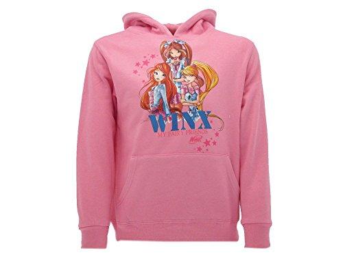 Winxclub winx club felpa con cappuccio colore rosa taglie 7/8 anni-9/10 anni-11/12 anni (11/12 anni)