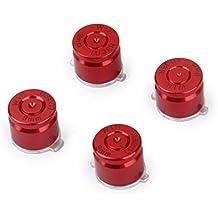 Genérico 4pcs Botones Balas para La Palanca de Mano Controlador de PS3/4 de Color Rojo