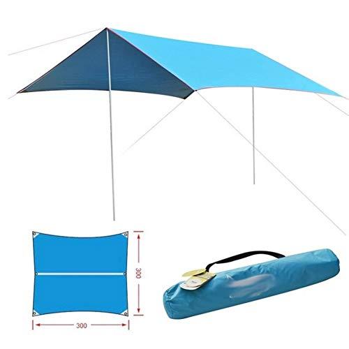 Zhooyyyy Camping Refugio al Sol Cobertizo Exterior 3 * 2.9 m Impermeable Cortina 2 Barra de Hierro Playa Tienda de...