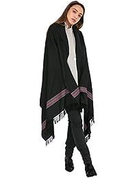 Amazon.fr   laine noire - Châles   Echarpes et foulards   Vêtements 6449c03c36e