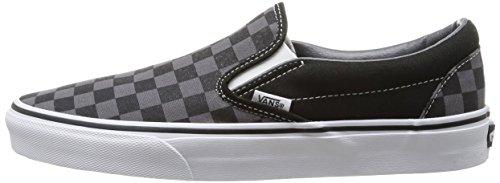 Vans VZMRFJH, Unisex Adults' Low-Top Sneakers, Black ((Checkerboard) black / pewter), 8 UK (42 EU)