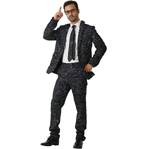 EraSpooky Herren Formel Anzug mit Jackett Hose Krawatte Kostüm Cosplay Faschingskostüme Halloween Party Karneval Fastnacht Kleid für Erwachsene