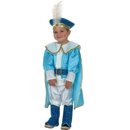 Fyasa 705855-t00Prince Fancy Dress Kostüm, blau, klein