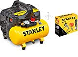 Stanley DST 100/8/6 Compresseur silencieux (59 dB) + Kit 6 Stanley