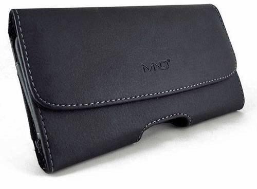 Custodia a fondina in pelle orizzontale e su di trasporto per Samsung Galaxy S6, con chiusura magnetica, clip e passanti per cintura