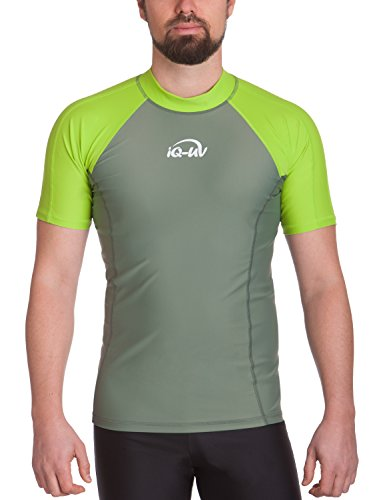 iQ-UV Herren UV 300  Slim Fit Kurzarm T-Shirt, grün (neon green_515), S (48) -