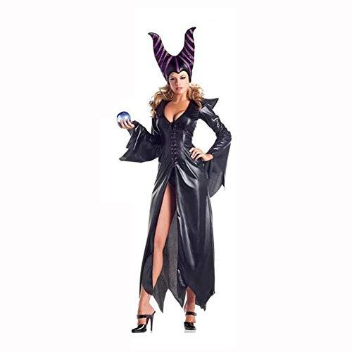 Shisky Halloween kostüm Damen, Halloween Rollenspiel schlafen Zauber dunkle Hexe Dämon Königin ()