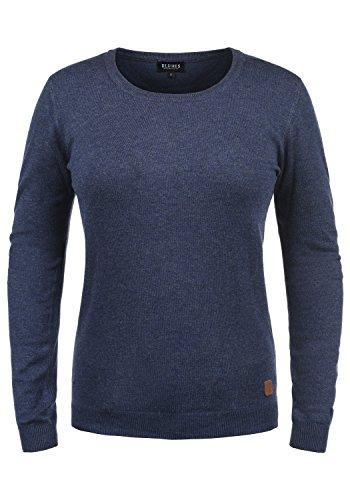 DESIRES Edda Damen Strickpullover Feinstrick Pullover Mit Rundhals, Größe:S, Farbe:Insignia Blue Melange (8991)