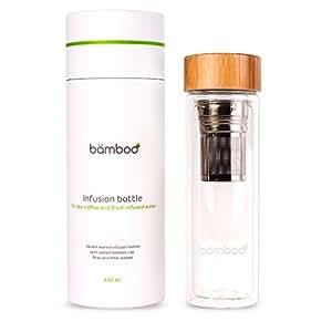 """""""bämboo – Infusion Bottle"""", Teebereiter, für """"Fruit Infused Water"""", Detox-Rezepte oder für Smoothies"""