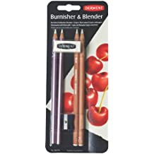 Derwent 2301774 - Lápices de madera (2 x lápiz abrillantador, 2 x lápiz mezclador)