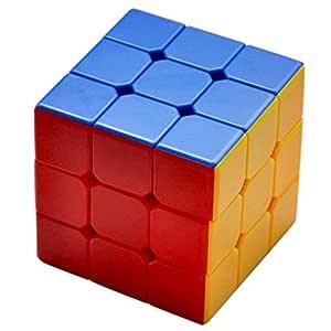 kids Dukaan High Stability Stickerless 3x3x3 Speed Cube (Multicolour)