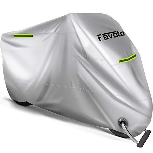 Favoto Funda para Moto Cubierta de la Motocicleta 210D Oxford Sellado Térmico...