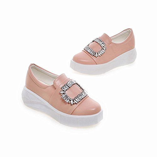 Mee Shoes Damen mit Strass runde Geschlossen Durchgängiges Plateau Pink