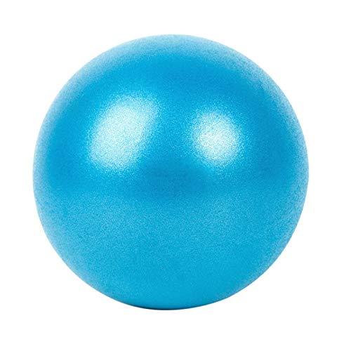 Fortitude Sports Yoga-Ball 25 cm, Mini-Gymnastikball für Pilates, Yoga, Fitness, Stabilität und Physiotherapie, Mini-Pilates-Ball mit aufblasbarem Strohhalm - blau