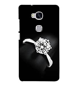 Fuson Designer Back Case Cover for Huawei Honor 5X :: Huawei Honor X5 :: Huawei Honor GR5 (A Diamond Ring Theme)