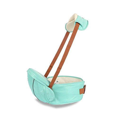 SONARIN Premium Hipseat Baby Carrier Babytrage, Sicher und Komfortabel, Freie Größe, Vorderer Träger Gürtel, 4 tragende Positionen,100% GARANTIE und FREIE LIEFERUNG, Ideales Geschenk(Hellgrün)
