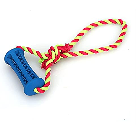 giocattoli del cane per la pulizia dei denti, anche i corda di cotone duro da masticare molari durevoli colori pet giocattoli non tossici variano , l