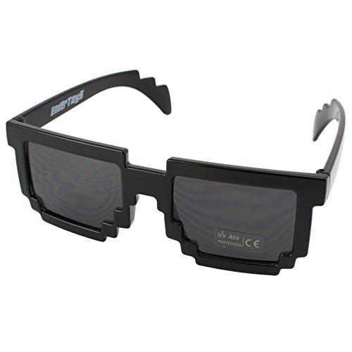 8-Bit Retro Videospiel Pixel Sonnenbrille - Farbe: Schwarz von EnderToys