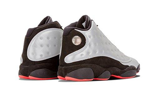 Nike Air Jordan 13 Retro Prm, Chaussures de Sport Homme Multicolore - Plateado / Rojo / Negro (Reflect Silver / Infrrd 23-Blck)