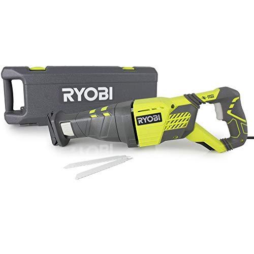 Ryobi scie sabre rrs1200Coffre de transport K avec, 1200W, 1pièce, noir/vert, 5133002472
