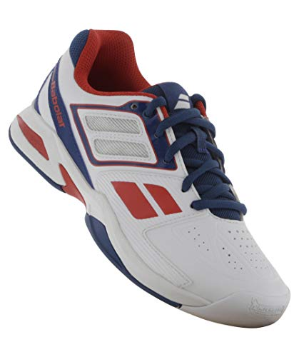 Babolat Kinder Indoor Tennis-Schuhe Propulse Jr Weiss (10) 36