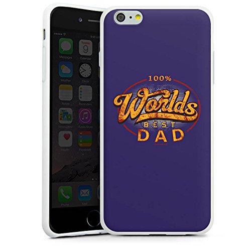 Apple iPhone X Silikon Hülle Case Schutzhülle Worlds Best Dad Bester Vater Silikon Case weiß