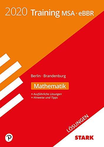 STARK Lösungen zu Training MSA/eBBR 2020 - Mathematik -  Berlin/Brandenburg