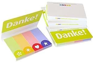 Dankeschön Indexstreifen (1 Mäppchen), Seiten markieren mit Papiermarken bzw. Haftstreifen im Danke-Zeichen-Set - Kleines Geschenk