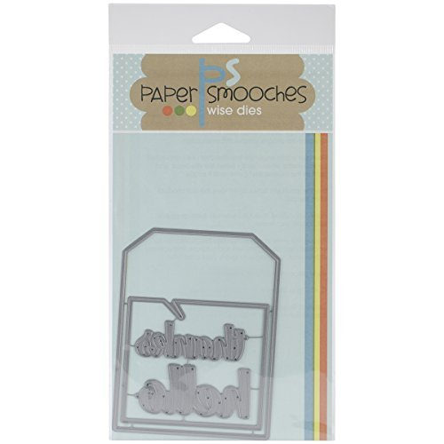 Paper Smooches Quote Tag Die by Paper