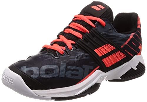 Babolat Men Propulse Fury Allcourt Tennis Shoes All Court Shoe Black - Coral 9