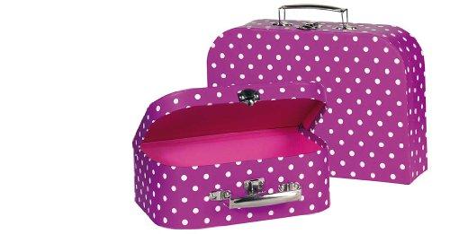 Goki - 2040742 - Accessoire Pour Poupée - Suitcase Violet À Pois Blancs