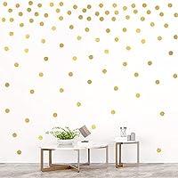 Creative 30 * 60cm Gold Circle Wall Stickers Home Decor Living Room Baby Nursery Vinyl Wall Decals DIY Wallpaper Art