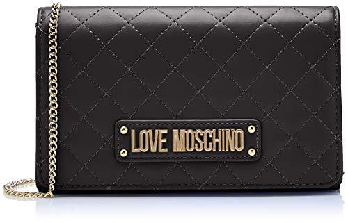 Love Moschino - Quilted Nappa Pu, Carteras de mano Mujer, Negro (Nero), 15x10x15 cm (W x H L)