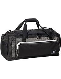MIER MIER Large Duffel Bag Men's Gym Bag With Shoe Compartment 60L Black