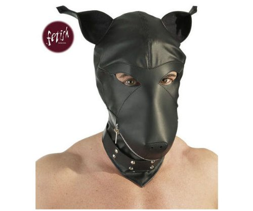 Black Level Lederimitat Dog Mask