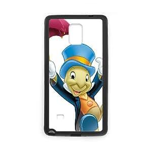 Disney Pinocchio Character Jiminy Cricket coque Samsung Galaxy Note 4 cellulaire cas coque de téléphone cas téléphone cellulaire noir couvercle EEECBCAAC10124