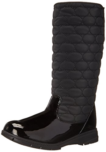 Doux Style Par Hush Puppies Paris Boot Neige Black Vylon/Patent