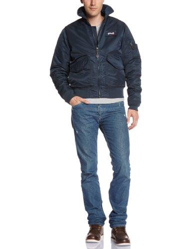 Schott NYC Herren Blouson Jacke Blau (Marineblau)