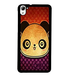 PrintDhaba Panda Face D-3417 Back Case Cover for HTC DESIRE 826 (Multi-Coloured)