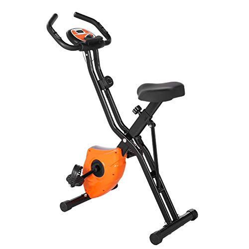 Profun Esercizio di Bicicletta Fitness Bici Spinning Bike Cyclette per Casa Cyclette con Resistenza Magnetica Regolabile a 8 Livelli e Fasce da Allenamento Indoor Cycling Bike con App (Arancia)
