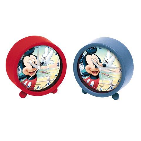 Disney AUSWAHL Kinderwecker Uhr Wecker Kinderuhr (Mickey Maus blau) (Mickey-maus-uhr Blau)