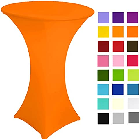 Spandex Poseur Table stretch Cover Cocktail Tablecloth Ø 60 cm 4 legs (orangefluo)