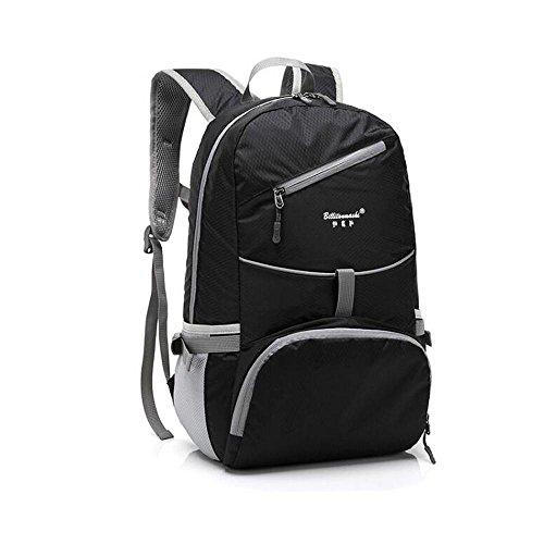 HTRPF Schulter Reise faltbare wasserdichte tragbare leichte Männer und Frauen Sporttasche Black