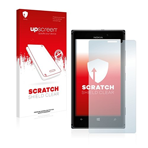 upscreen Scratch Shield Clear Displayschutz Schutzfolie für Nokia Lumia 925 (hochtransparent, hoher Kratzschutz)