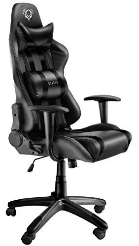 Diablo X-One Gaming Sedia mecanismo de inclinación Cuscino Lombare Cuero sintético Portata 150 kg (Nero-Nero)