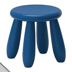 IKEA - MAMMUT Childrens stool, dark blue (X1)